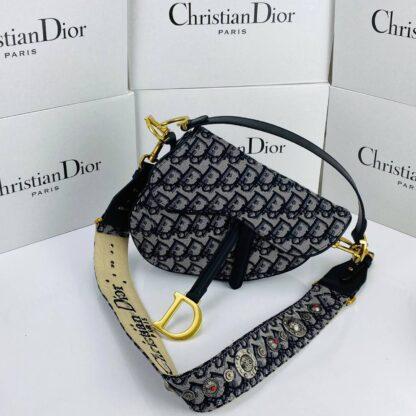 christian dior canta oblique saddle askili siyah 25x20x6 cm