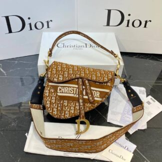 christian dior canta saddle taba 25x20 cm