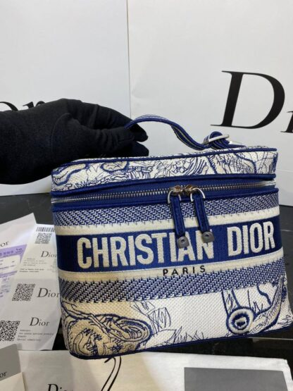 christian dior canta travel vanity lacivert 24x17 cm
