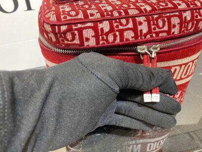 christian dior canta vanity case nakisli kirmizi 24x17 cm