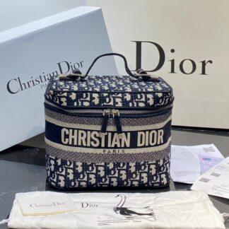 christian dior canta vanity nakisli lacivert 24x17 cm