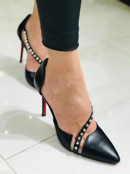 christian louboutin ayakkabi stiletto pumps siyah topuk 12 cm