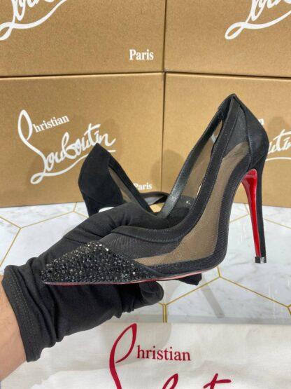 christian louboutin ayakkabi stiletto siyah topuk 12 cm