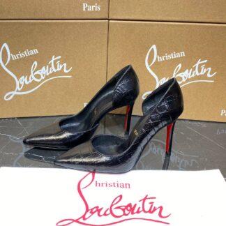 christian louboutin ayakkabi stiletto so kate siyah kroko 10 cm