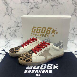 golden goose ayakkabi superstar leopar kirmizi sneaker