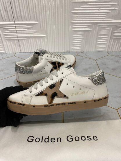 golden goose ayakkabi superstar sneakers beyaz leopar