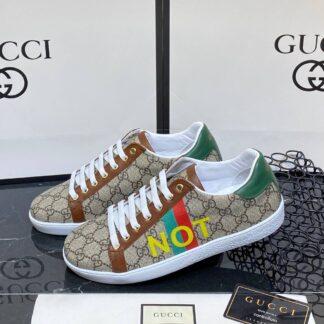 gucci ayakkabi ace not print erkek sneaker