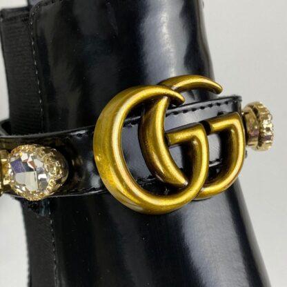 gucci ayakkabi chelsea crystal belt bot taban 3cm topuk 5cm