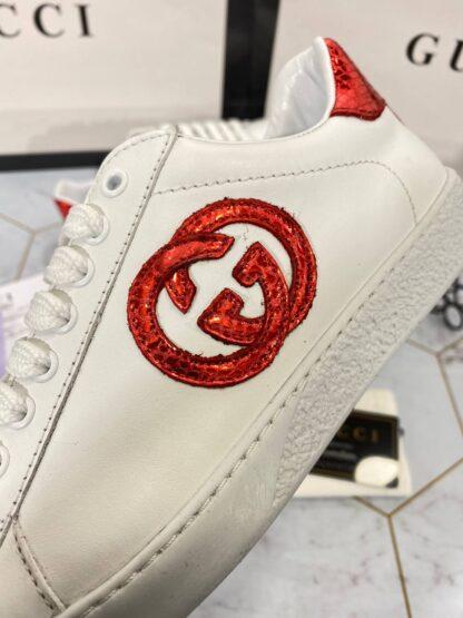 gucci ayakkabi sneaker kirmizi beyaz