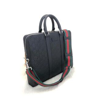 gucci canta signature evrak laptop siyah 36x28 cm