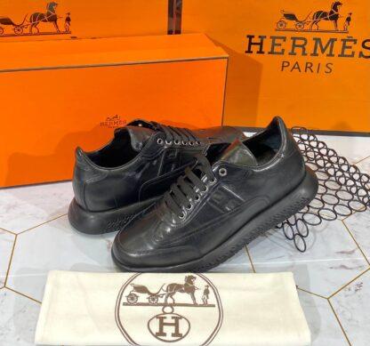 hermes ayakkabi 2021 erkek sneakers siyah