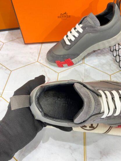 hermes ayakkabi bouncing sneakers gri kirmizi