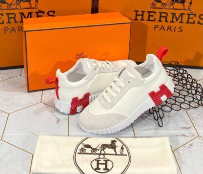 hermes ayakkabi bouncing sneakers kadin beyaz