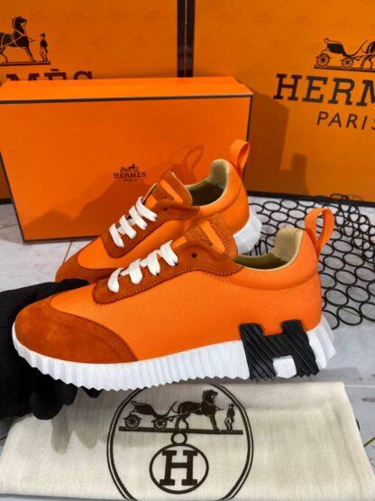 hermes ayakkabi bouncing sneakers turuncu