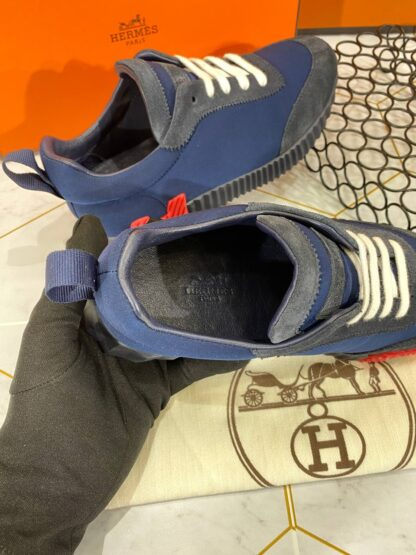 hermes ayakkabi erkek bouncing sneakers lacivert