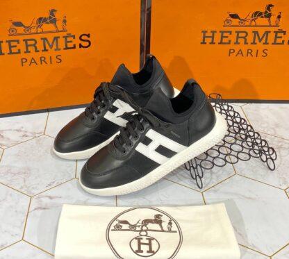 hermes ayakkabi erkek sneaker siyah beyaz