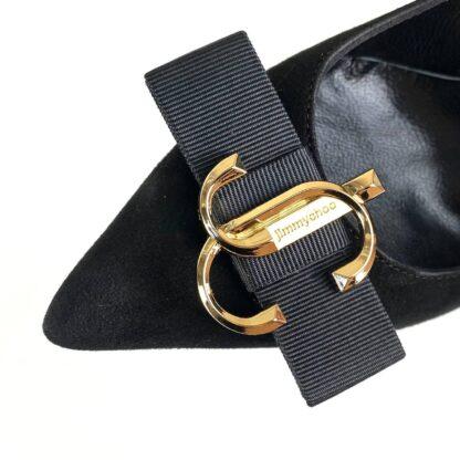 jimmy choo ayakkabi stiletto ari 100 siyah suet topuk 10cm