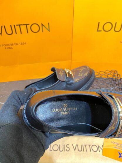 louis vuitton ayakkabi academy loafer siyah monogram