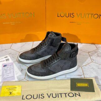 louis vuitton ayakkabi rivoli erkek sneaker bot siyah