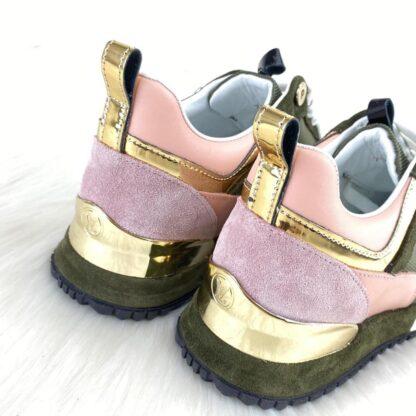 louis vuitton ayakkabi run away yesil sneaker taban 3.5 cm