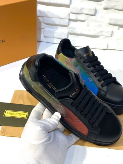louis vuitton ayakkabi time out siyah sneakers