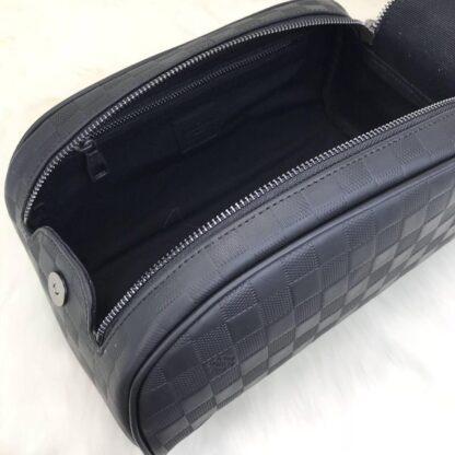louis vuitton canta king size toiletry pouch inifini siyah 28x16 cm