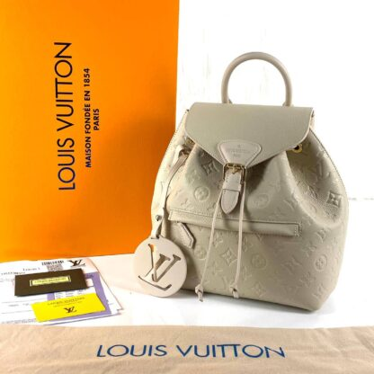 louis vuitton canta krem montsouris empreinte pm sirt 33x27x14