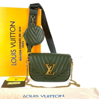 louis vuitton canta new wave multi pochette haki yesil 19x14