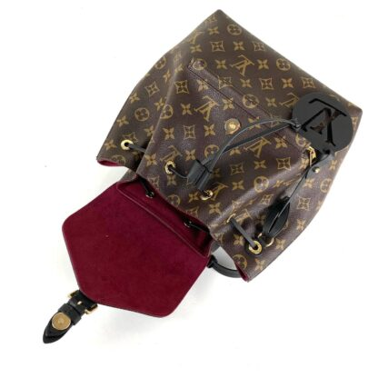 louis vuitton canta siyah montsouris pm monogram simetrik 33x27x14