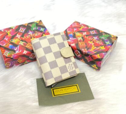louis vuitton kartlik unisex otomatik damier beyaz