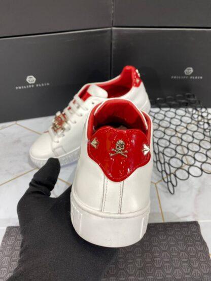 philipp plein ayakkabi erkek sneaker kirmizi beyaz