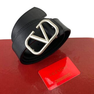valentino kemer vlogo siyah silver 2.5 cm kalinlik