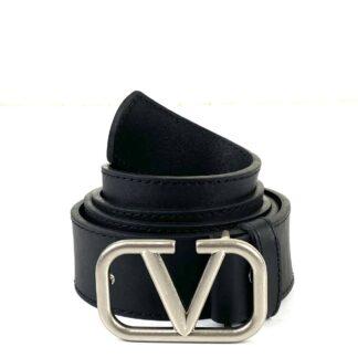 valentino kemer vlogo siyah silver 4 cm kalinlik