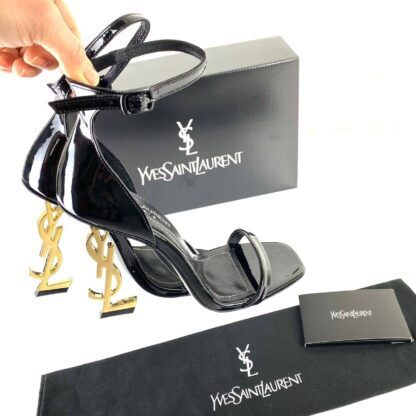 yves ayakkabi opyum pumbs siyah rugan 11 cm