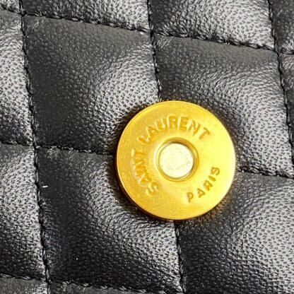 yves canta medium college siyah gold ithal aksesuar 24x17 cm