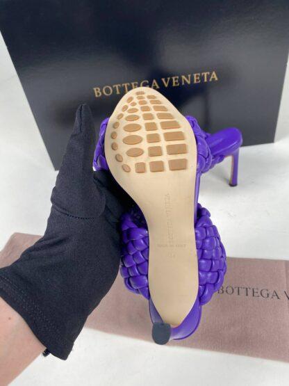 bottega veneta ayakkabi mor terlik topuk 10 cm
