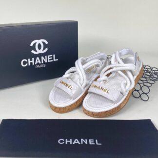 chanel beyaz sandalet terlik