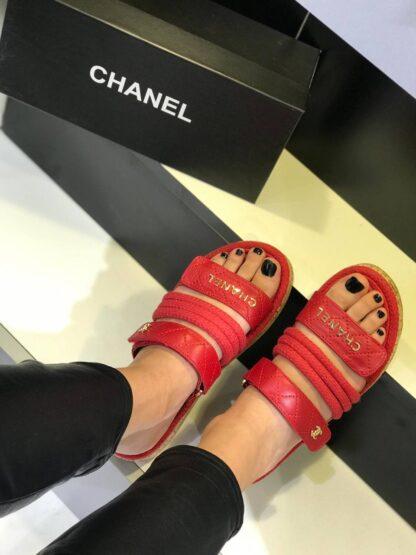 chanel ayakkabi kirmizi terlik yeni sezon