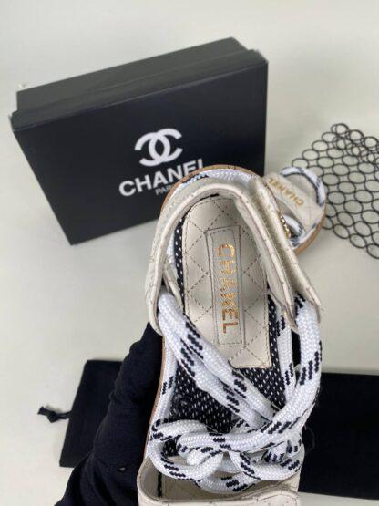 chanel ayakkabi krem sandalet terlik