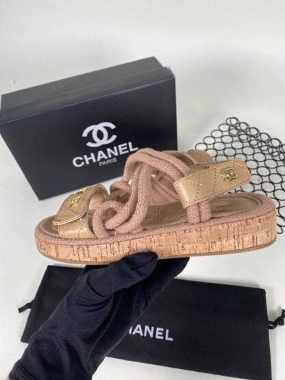 chanel ayakkabi nude sandalet terlik