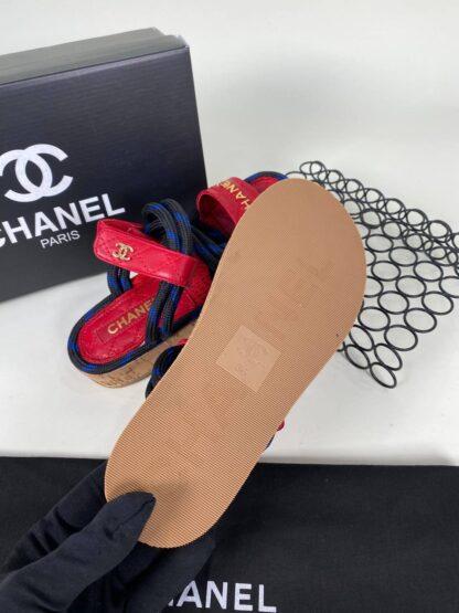 chanel ayakkabi sandalet terlik kirmizi