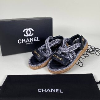 chanel sandalet terlik siyah