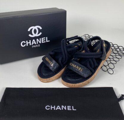 chanel siyah sandalet terlik