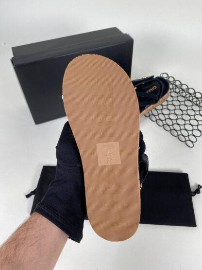 chanel ayakkabi siyah sandalet terlik