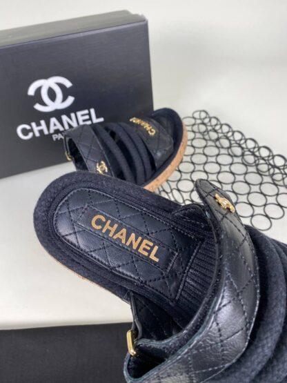 chanel ayakkabi terlik siyah yeni sezon