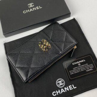 chanel canta 19 siyah gold hayvar vip cuzdan 19.5x10.5 cm