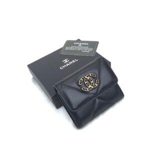 chanel canta 19 siyah gold kucuk cuzdan 11x9 cm