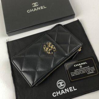 chanel canta 19 siyah gold vip cuzdan 19.5x10.5 cm