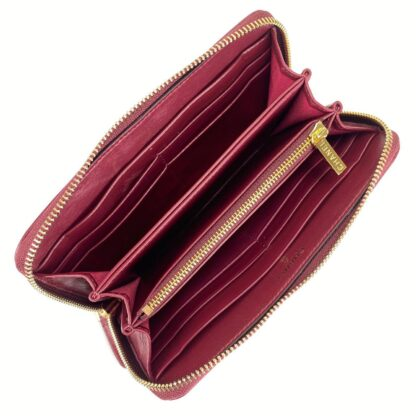 chanel canta 19 zipped bordo cuzdan 20x11cm