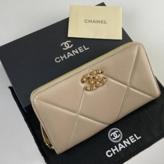 chanel canta 19 zipped vizon cuzdan 20x11cm